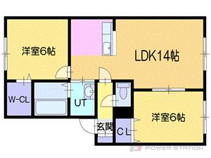 札幌市東区東雁来10条2丁目0賃貸アパート間取図面