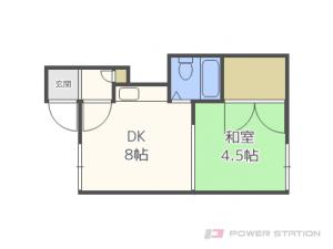 元町1DKアパート図面