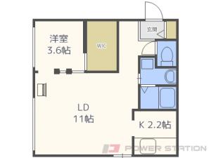 札幌市東区北43条東18丁目0賃貸マンション間取図面