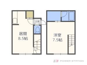 札幌市東区北27条東17丁目0賃貸アパート間取図面