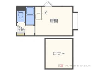元町1Kアパート図面