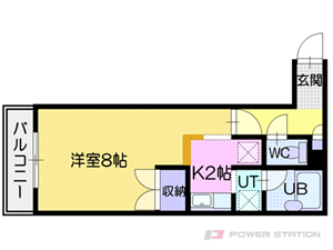 札幌市東区北24条東18丁目0賃貸マンション間取図面