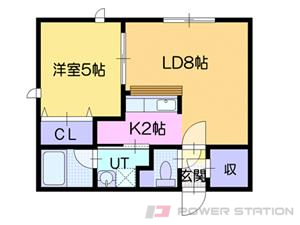 札幌市東区北34条東19丁目1賃貸マンション間取図面