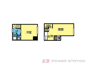 元町1LDKアパート図面