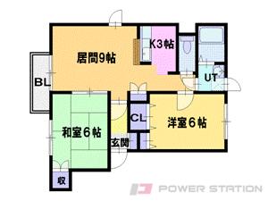 札幌市東区東苗穂8条2丁目0賃貸マンション間取図面