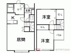 札幌市東区東雁来9条2丁目0テラスハウス間取図面