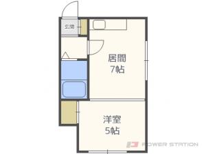 札幌市東区北32条東1丁目1賃貸アパート間取図面