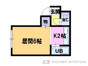 札幌市東区北34条東3丁目1賃貸アパート間取図面