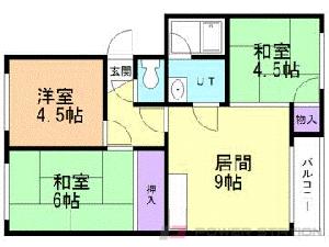 札幌市東区北30条東8丁目1賃貸マンション間取図面