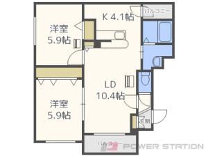 札幌市東区北18条東19丁目0賃貸マンション間取図面
