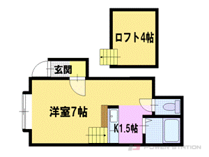 札幌市東区北28条東18丁目0賃貸アパート間取図面