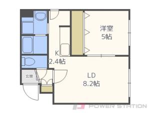 札幌市東区北23条東17丁目1賃貸マンション間取図面