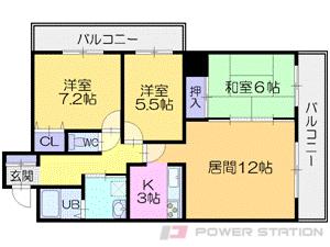 栄町3LDKマンション図面
