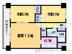 札幌市東区北36条東27丁目1賃貸マンション間取図面