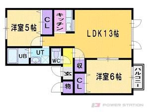 札幌市東区伏古13条4丁目0賃貸アパート間取図面