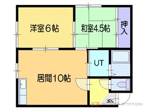 札幌市東区東苗穂10条3丁目0賃貸アパート間取図面