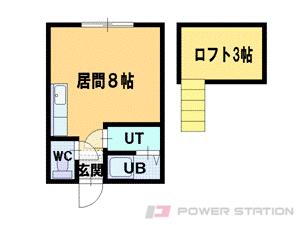 札幌市東区北36条東1丁目0賃貸アパート間取図面