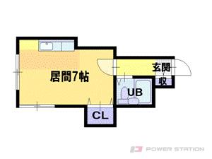 札幌市東区北37条東1丁目0賃貸アパート間取図面