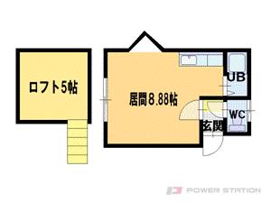 札幌市東区北38条東2丁目0賃貸アパート間取図面