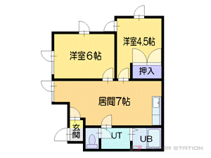 札幌市東区北34条東9丁目0賃貸マンション間取図面