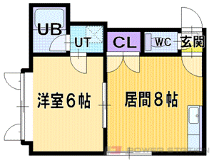 札幌市東区北35条東9丁目0賃貸アパート間取図面