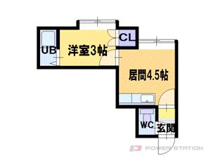札幌市東区北34条東9丁目0賃貸アパート間取図面