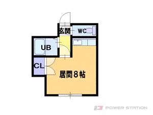 札幌市東区北35条東12丁目0賃貸アパート間取図面