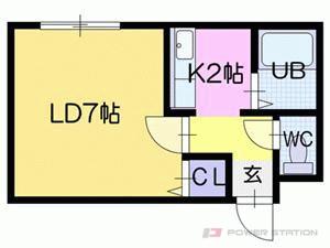 札幌市東区北33条東15丁目0賃貸マンション間取図面