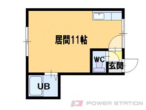 新道東1Rアパート図面