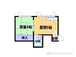 札幌市東区北33条東16丁目0賃貸アパート間取図面