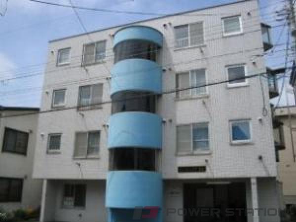 新道東1Kマンション外観