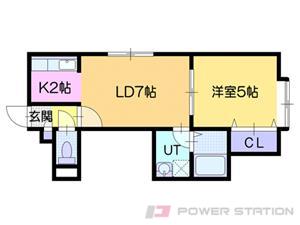 札幌市東区伏古9条3丁目0賃貸アパート間取図面