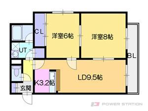 札幌市東区北34条東18丁目0賃貸マンション間取図面