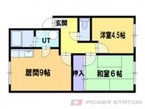 新道東2DKアパート図面