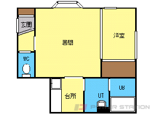 札幌市東区北43条東1丁目1賃貸アパート間取図面