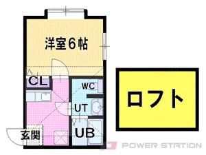 麻生1Kアパート図面