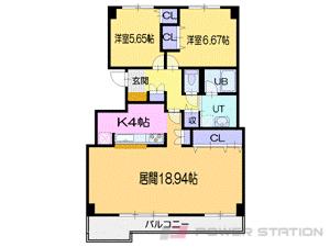 札幌市東区北40条東6丁目0分譲リースマンション間取図面