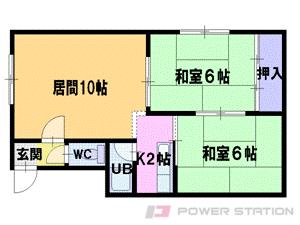 札幌市東区北38条東9丁目0賃貸アパート間取図面
