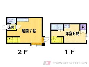 札幌市東区北39条東14丁目0賃貸アパート間取図面