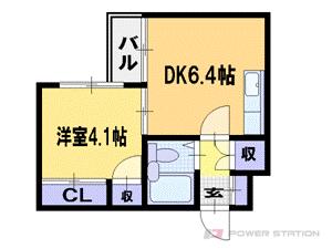 札幌市東区北40条東14丁目0賃貸マンション間取図面