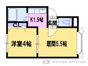 札幌市東区北40条東14丁目0賃貸アパート間取図面