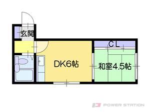 札幌市東区北40条東16丁目0賃貸マンション間取図面