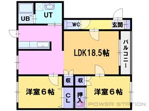 札幌市東区北37条東18丁目0賃貸アパート間取図面