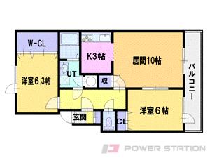 札幌市東区北37条東19丁目0賃貸マンション間取図面