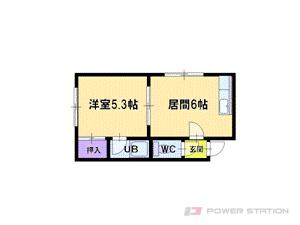 札幌市東区北39条東16丁目0賃貸アパート間取図面
