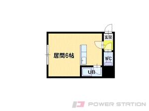 栄町1Kアパート図面