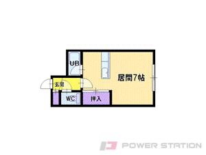 札幌市東区北40条東17丁目0賃貸アパート間取図面