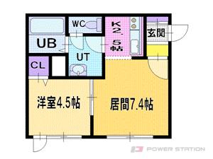 栄町1LDKマンション図面