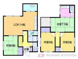 札幌市東区伏古7条4丁目0一戸建貸家間取図面