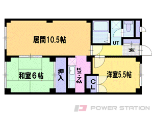 麻生2LDKマンション図面
